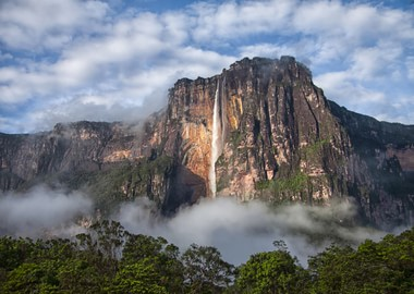 Falling angels? No, Angel Falls waterfalls!